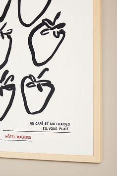 Un Cafe et Six Fraises, S'il Vous Plait Wall Art by Hôtel Magique | Anthropologie Plexiglass Panels, Anthropologie, Best Brand, Paper Goods, Fine Art Paper, Color Schemes, Gallery Wall, Product Launch, Greeting Cards
