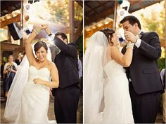 Real Bride in Watters gown and veil