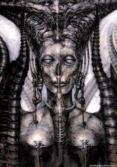 conoce a los monstruos fantasticos de H.R Giger, imagenes ,
