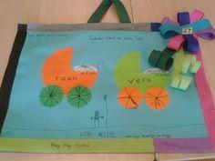 Geboortekaart van de groep Reusable Tote Bags, School, Baby, Baby Humor, Infant, Babies, Babys