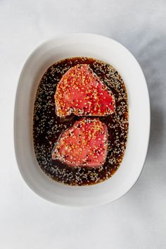 Learn To Make Seared Ahi Tuna! It's Easy and Delicious. Ahi Tuna Marinade, Ahi Tuna Sauce, Seared Ahi Tuna Recipe, Ahi Tuna Steak Recipe, Tuna Steaks, Pan Seared Tuna Steak, Tuna Recipes, Seafood Recipes, Kitchens