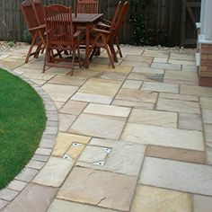 The Sandstone Centre : Sandstone Patio Paving Slabs, Suppliers of Sandstone Paving Supplies London and Sandstone Paving Supplies Essex Paving Stone Patio, Outdoor Paving, Sandstone Paving, Patio Slabs, Garden Paving, Paving Stones, Patio Tiles, Patio Edging, Curved Patio