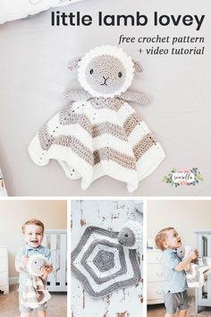 Crochet this cuddly lamb baby lovey with my free pattern and video tutorial! It's easy to make, gender neutral, and make with some fun yarns from JOANN! #handmadewithJOANN #ad #freepattern #crochet #baby #lovey #amigurumi