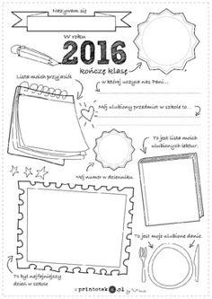 Moja klasa - Printoteka.pl Bullet Journal 2, Summer Kids, Primary School, Classroom Management, Worksheets, Presentation, Notebook, Parenting, Teaching