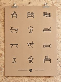 Creative Picto, Tim, Boelaars, Furniture, and Icon image ideas & inspiration on Designspiration Web Design, Icon Design, Logo Design, Design Set, Flat Design, Logo Café, Furniture Logo, Urban Furniture, Furniture Websites