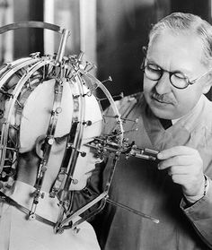 The Crazy Things We Did to Be Beautiful | From airless bonnets to dimple-makers, these products are thankfully long gone | The Measure of Beauty Max Factor was a legendary cosmetician who achieved worldwide fame for his makeup line. Weirdly, he didn't get famous for this Beauty Micrometer, a scientific way to measure beauty. < http://slightlywarped.com/crapfactory/curiosities/2013/march/pictures_from_the_1930s.htm >  Photograph by General Photographic Agency/Getty Images