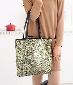 Sequined Tote – Totes & Top Handle Bags | yeswalker | Free worldwide shipping on every order