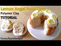 ▶ Miniature Polymer Clay Lemon Angel Food Cake Tutorial - YouTube