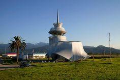 Airport Control Tower, by Michele De Lucchi architect in Batumi, Georgia 2011 via archilovers.com