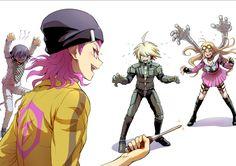 Kokichi, Kazuichi, Kiibo, and Miu