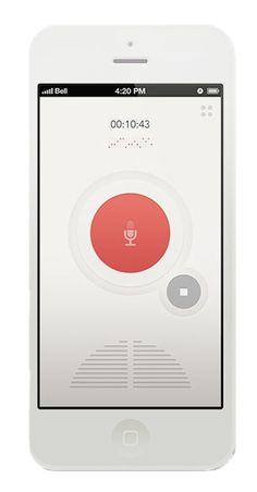 Recorder voice #UX #UI