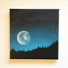 Super Moon. Acrylic painting on canvas. 8x8 inches. Available at my Etsy shop…