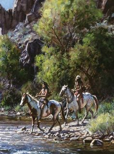 MARTIN GRELLE - WHITEWATER CROSSING INDIAN PICTURES