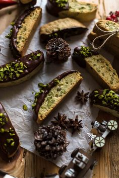 These is the best Chocolate Pistachio Biscotti recipe you will ever find. Not too dry nor hard. Very easy to make. Chocolate Pistachio Biscotti Recipe by Also The Crumbs Please Best Almond Biscotti Recipe, Pistachio Biscotti, Holiday Desserts, Holiday Recipes, Christmas Sweets, Christmas Baking, Holiday Cookies, Cookie Recipes, Dessert Recipes
