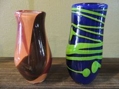 Vases made on a whim by Rhonda Baker  Fireworks Glass Studios