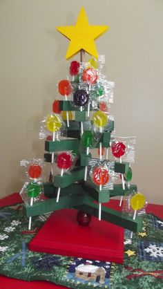 Wooden Lollipop Tree, holds 28 lollipops which are included by SoSewMimi on Etsy