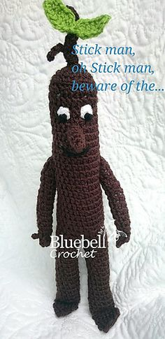 PDF sample for Stick Man, impressed by the e book and TV program. This sample is appropriate for a newbie/intermediate. In case you can single crochet, half double crochet, do a magic ring, and Afghan Crochet Patterns, Knitting Patterns, Sewing Patterns, Knitting Ideas, Crochet Pillow, Baby Blanket Crochet, Crochet Blankets, Crochet For Beginners Blanket, Beginner Crochet