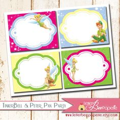 Tinkerbell Party Food Tents / Labels  Girls by LetterBeePaperie, $8.00