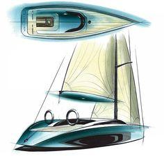 Tommy Forsgern Yacht Sketch