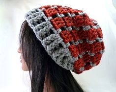Brick House Slouchy Hat in Brick and Mortar by Threadmill on Etsy, $31.00