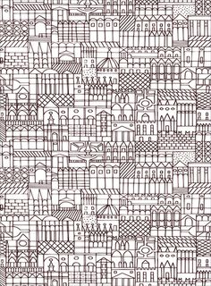 Alexander Girard wrapping paper--would make a great zentangle-ish inspiration. Surface Design, Surface Pattern, Pattern Art, Pattern Design, Pattern Library, Motifs Textiles, Textile Patterns, Color Patterns, Print Patterns