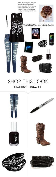 """I just got a awesome book"" by miazoom442 ❤ liked on Polyvore featuring Current/Elliott, Sharpie, Essie, Refresh, Pieces, women's clothing, women, female, woman and misses"