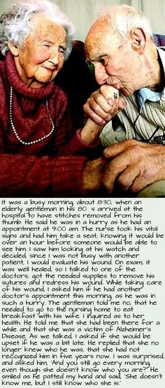 <3 My grandpa did this everyday with my grandmother as well.. you don't find love like this everyday xoxo