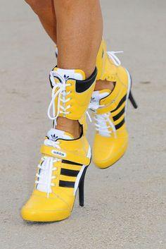 Adidas sneakers get the stiletto treatment. Sneaker HeelsHigh Heel ... 01d1af722