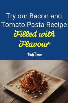 Perk Up Your Pasta with This Yummy Bacon and Tomato Recipe Tomato Pasta Recipe, Pasta Recipes, Pasta Amatriciana, Great Recipes, Favorite Recipes, Bacon Bits, Nutritious Meals, Family Meals, Dinners