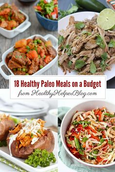 18 Paleo Meals on a Budget | Healthy Helper @Healthy_Helper Your ultimate guide for paleo meal planning on a budget. 18 of the tastiest, healthiest paleo-friendly dishes you can make for your family without breaking the bank!