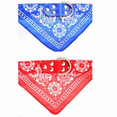 Adjustable pet bandana collar in multi colors and sizes. Let your dog rock this bandana.