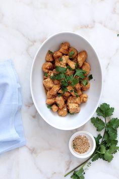 Receta de Pollo con salsa de soja, miel y sésamo