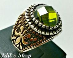Men's Ring Turkish Ottoman Style Jewelry 925 Sterling by IdilsShop, $120.00