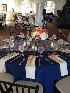Terrific Navy Wedding Table Decorations 69 On Wedding Decorations For Tables with Navy Wedding Table Decorations Blue Wedding, Wedding Bells, Wedding Colors, Wedding Reception, Dream Wedding, Reception Ideas, Wedding Ceremonies, Wedding Events, Wedding Table Decorations