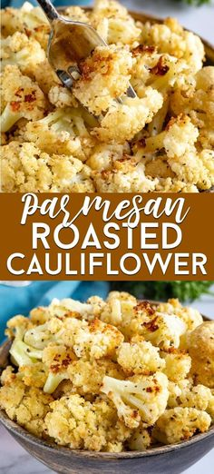 How to make Parmesan Roasted Cauliflower Recipe - Crazy for Crust - Learn how to roast cauliflower with parmesan! This is an easy side dish! Roasting vegetables makes them taste so good and adding parmesan to cauliflower takes it to another level. Veggie Side Dishes, Healthy Side Dishes, Vegetable Sides, Side Dishes Easy, Side Dish Recipes, Food Dishes, Dinner Recipes, Vegetable Dish, Roast Dinner Side Dishes