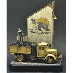 """Kohlenklau""  by Roy Schurgers. From: Pinterest  #scalemodel #plastimodelismo #miniatura #miniature #miniatur #hobby #diorama #scalemodelkit #plastickits #usinadoskits #udk #maqueta #maquette #modelismo #modelism"