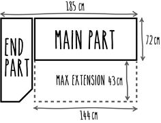Dimensions of my extending bed