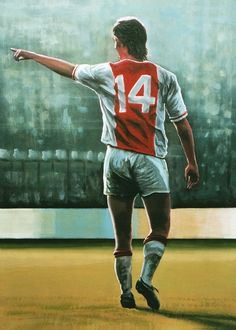 Johan Cruyff of Ajax Amsterdam wallpaper. Soccer Pro, Football Players, Nike Football, Soccer Cleats, Fifa 100, Marco Van Basten, Michel Platini, Messi Gif, Arte Do Harry Potter