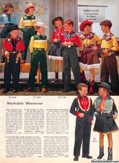 Christmas Catalogs, Christmas Books, Vintage Christmas, Vintage Advertisements, Vintage Ads, Vintage Stuff, Cowgirl Outfits, Cowgirl Fashion, Rolled Up Jeans