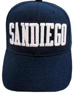 6948ac8406ef5 Blue white mens San Diego Baseball Truckers hat cap Cotton Blend Sams size  7  Sams  BaseballCap