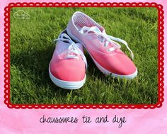 tie and dye shoes DIY