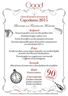 #capodanno #menù #carta #2015 #good