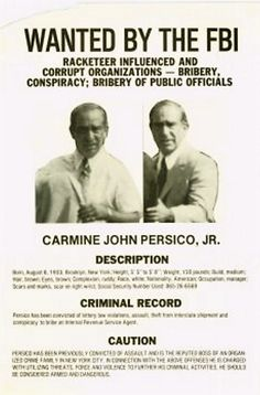 Colombo Boss's Grandson Nabbed (& Why Persico Opposed Lilo Hit) Colombo Crime Family, Organization Skills, Criminal Record, Newspaper Article, The Godfather, Mafia, Gangsters, Hero, Snake