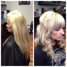 Before and after blonde