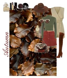"""""""Autumn outfit"""" by si-brikmane on Polyvore featuring Miss Selfridge, WearAll, Giuseppe Zanotti, Chanel, Marc by Marc Jacobs, Fendi, Stella & Dot, Michael Kors, Lack of Color and Illesteva"""