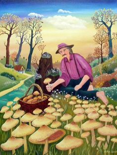Naive art with mushrooms :)