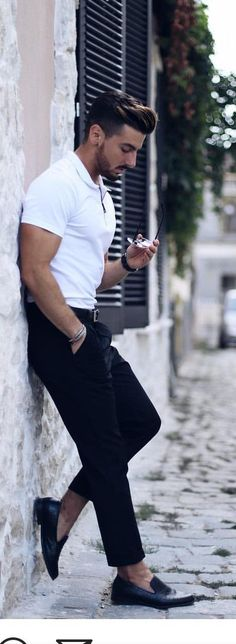 19 Coolest Casual Street Style Looks For Men – Casual Street Style, Man Street Style, Street Style Outfits, Men Street, Mode Outfits, Fashion Outfits, Man Style, Mens Fashion Blog, Mens Fashion Suits