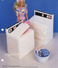 """Free Patterns Plastic Canvas Angels   WASHER & DRYER""""~Plastic Canvas PATTERN fits BARBIE~OOP - New and Used ..."""