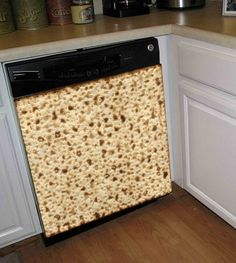 Passover Matzah Dishwasher Art Cover  Happy Passover! Wow, What A Way To Decorate Your Kitchen For Passover. This Matzah Designed Dishwasher Cover Will Amaze All Of Your Guests During Passover Time.     The Cover Is Completely Removable And Reusable To Use Each Year!