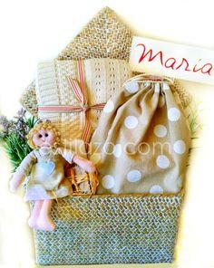 Cesta de nacimiento para María  www.estilazo.com @estilazoregalos #canastillas